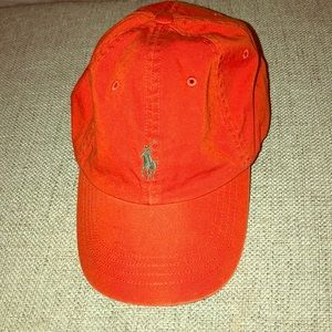 Men's orange polo hat